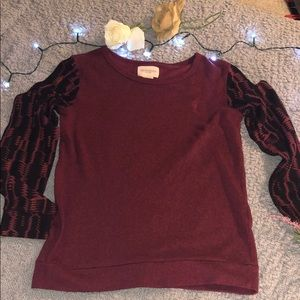 Women's burgundy sweater # A19